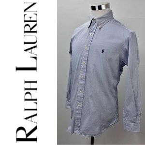 RALPH LAUREN Custom Fit Pencil Striped Dress Shirt